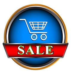 Button sale vector