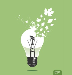 Light save plant concept vector