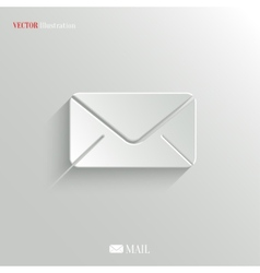Mail icon - web background vector