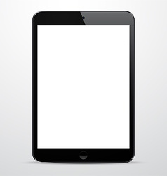 Realistic black tablet pc vector