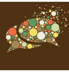 Dots communication bubble vector