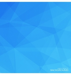 Geometric triangular abstract blue colors vector