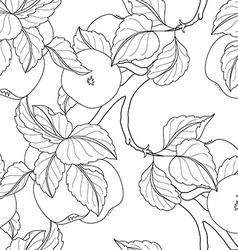 Seamless monochrome fruit pattern vector
