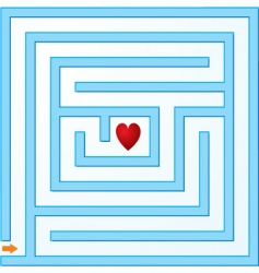 Small maze with heart vector