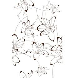 Seamless background floral design vector