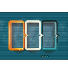 Conceptual of colorful cubes vector