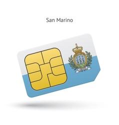 San marino mobile phone sim card with flag vector