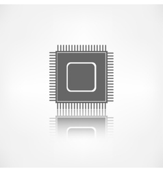 Microchip web icon vector