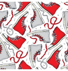Sneakers seamless background vector