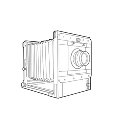 Old classic camera vector