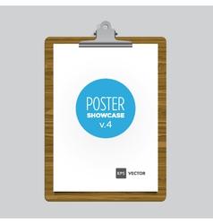 Poster bulldog clip tablet vector