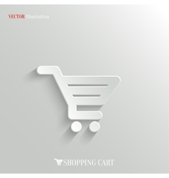 Shopping cart icon - web background vector
