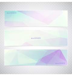 Colorful horizontal set of banners with vector