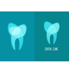 Stomatology healthy white teeth logo vector