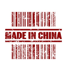 Made in china icon vector