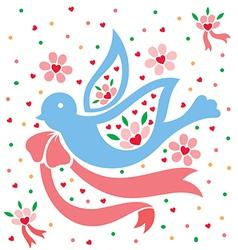 Love pigeon vector