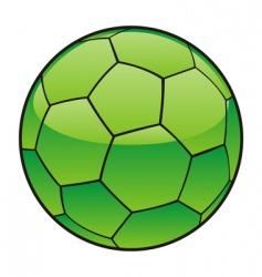 Libya flag on soccer ball vector