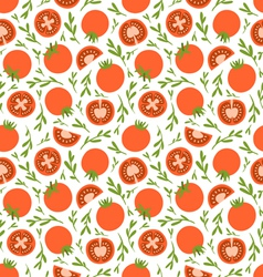 Red tomatoes pattern vector