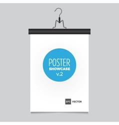 Poster pants hanger black vector