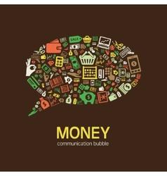 Money communication bubble vector