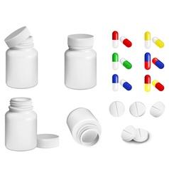 Pills and bottle vector