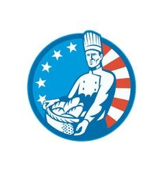 Retro american baker vector