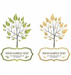 Label trees vector