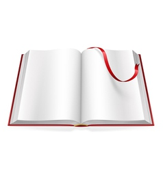 Open book with blank pages and sign vector