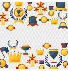Awards and trophies icons background vector
