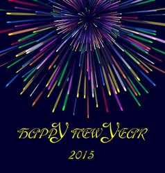 Happy new year2015 with firework vector