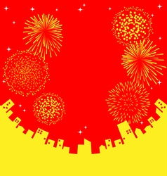 Fireworks abstract chinese new year vector