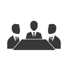 Business meeting symbol isolated on white vector