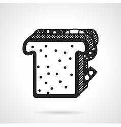 Sandwich black icon vector