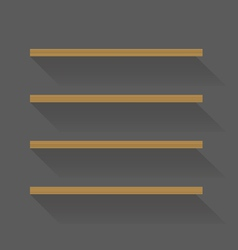 Flat design empty book shelves vector