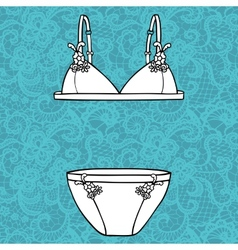 Hand drawn sexy lingerie set vector