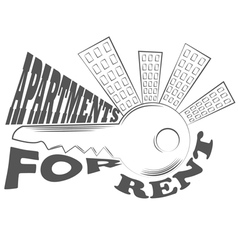 Agency fact apartments logo and pictures vector