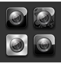 Camera apps icon set vector