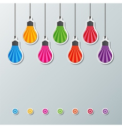 Paper light bulbs vector