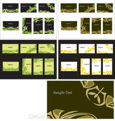 Business card templates vector