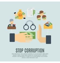 Corruption concept flat vector
