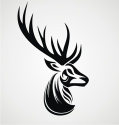 Deer tattoo design vector