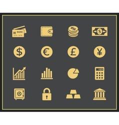 Financal icons set vector