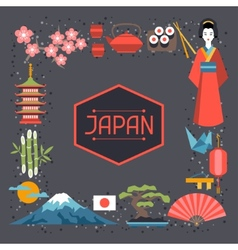Japan frame design vector
