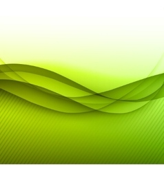 Colorful green lines background vector
