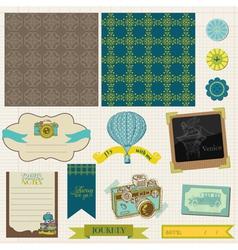 Travel set of retro design elements vector