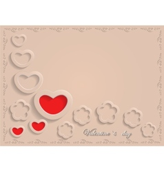 Card for valentine day on a beige background vector