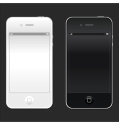 New realistic black and white mobile phone vector