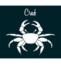 Crab icon vector