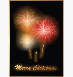 Fireworks card vector