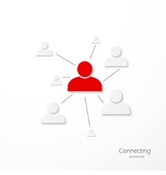 People network connection vector